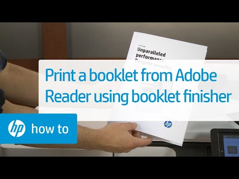 Printing A Booklet In Windows With Adobe Reader Using The Booklet Finisher | HP Printers | HP