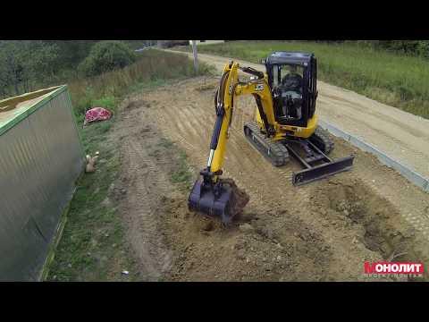 Рытье траншеи  мини-экскаватором JCB 8030. Mini Excavator JCB 8030