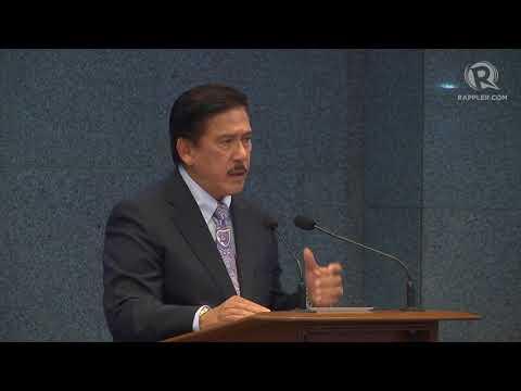 New Senate President Tito Sotto's acceptance speech