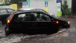 """Powódź w Międzyzdrojach - 3 sierpnia 2014 r.  """"niecenzurowane słowa w tle -  film od 18 lat"""