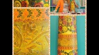 Como decorar Tejas - Decoupage -
