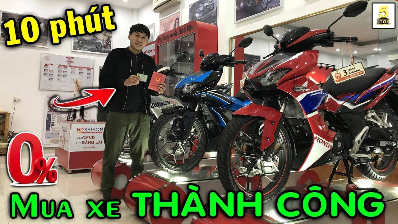 "Mua xe Winner X 2021 trong 10 phút ""THỦ TỤC NHANH GỌN"" ▶️ Winner X trả góp 0% 🔴 TOP 5 ĐAM MÊ"