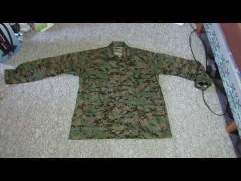Military BDU Woodland Digital Camouflage Shirt
