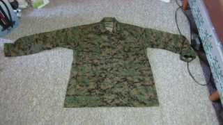 Military BDU Woodland Digital Camouflage Shirt