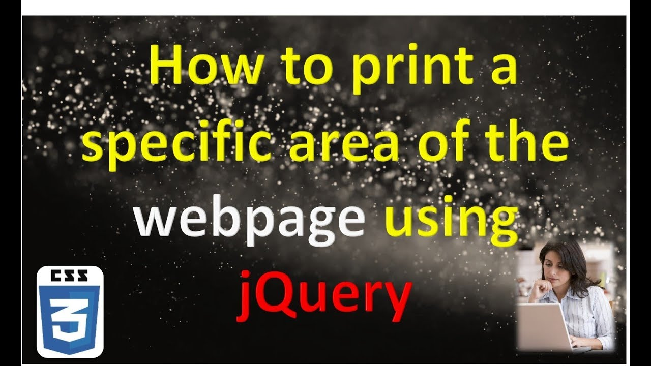 How to print a specific area of the web page using jQuery