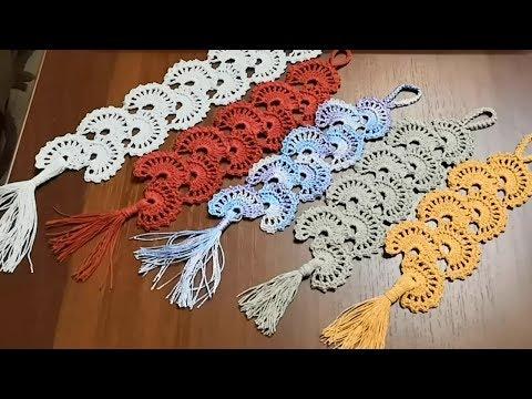 Вязаные крючком закладки для книг мастер класс