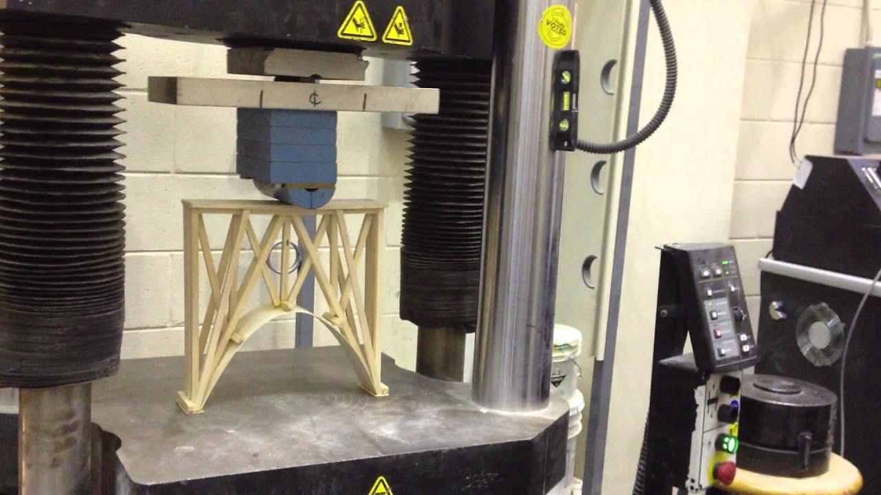Testing the failure strength of our Balsa wood bridge  3