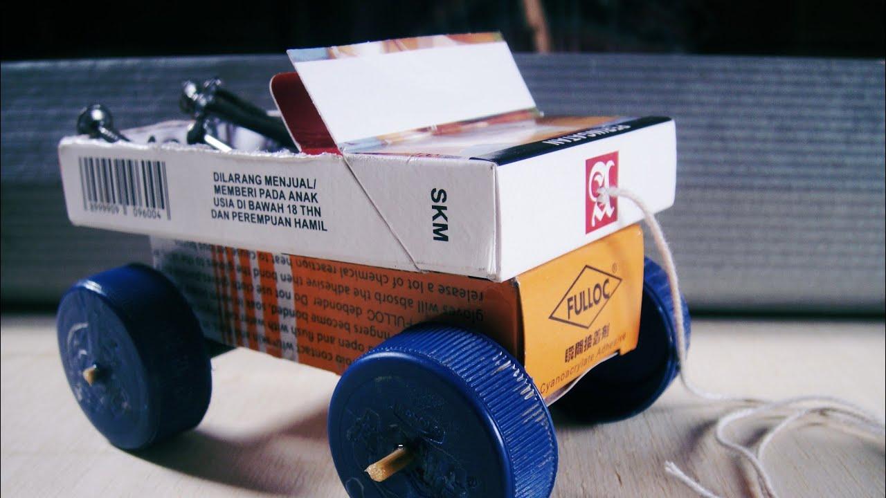 Kreatif membuat miniatur mobil dari kotak rokok - YouTube