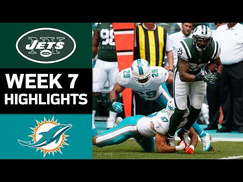 Jets vs. Dolphins | NFL Week 7 Game Highlights