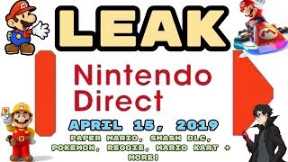 Download Video/Audio Search for Nintendo Direct Leak