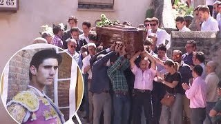 Hundreds attend matador's funeral after shocking bullfight death on live TV