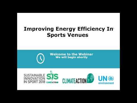 Improving energy efficiency in sports venues