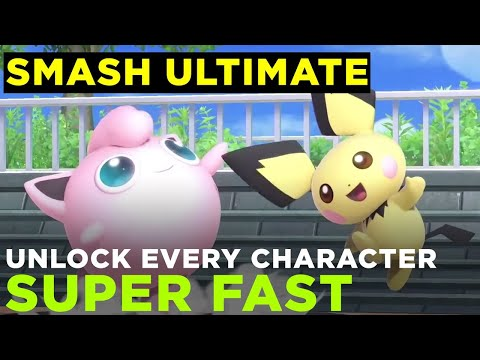 Super Smash Bros. Ultimate: How to unlock all characters fast thumbnail
