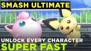 how to unlock all smash ultimate characters