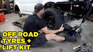 homepage tile video photo for Jimny LIFT KIT Install & Off Road Tyres