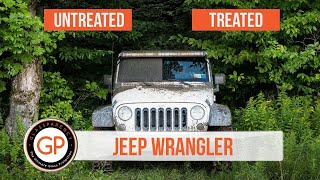 GlassParency Jeep Wrangler Offroad Treated vs Untreated Test