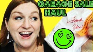 Garage Sale Haul Video - Thrift Store Haul - Turning $23 into ? - Church Garage Sale Haul