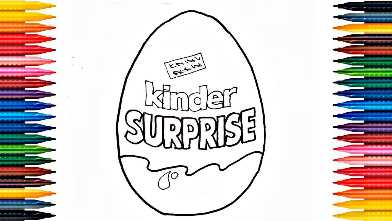Kinder Egg Coloring Pages