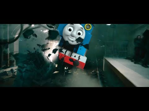putting Thomas the Tank Engine music over a horrific train wreck