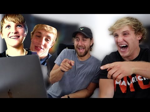 Thumbnail: REACTING TO JAKE AND I's OLD YOUTUBE VIDEOS! **cringe**