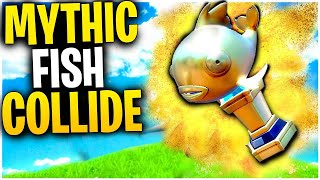 What Happens When TWO MYTHIC GOLDFISH COLLIDE IN MID-AIR? | Mythic Goldfish Fortnite Mythbusters!