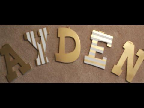 DIY Nursery Letters | Inexpensive & Easy