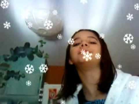me eating snow flakes