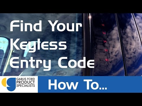 How To Find Your Keyless Entry Code