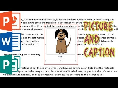 Keep Your Pictures And Captions Together In MS Word / PowerPoint / Publisher