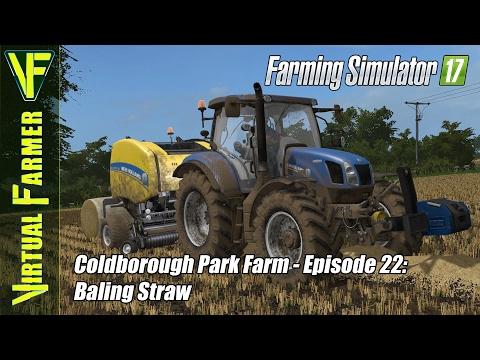 Let's Play Farming Simulator 17 - Coldborough Park Farm, Episode 22: Baling Straw