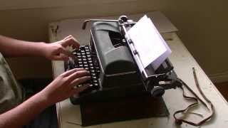Speed Typing Test (Halda Star Typewriter)