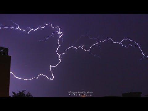 Thunderstorm in Puglia   Lightening slowmotion  Nature HD