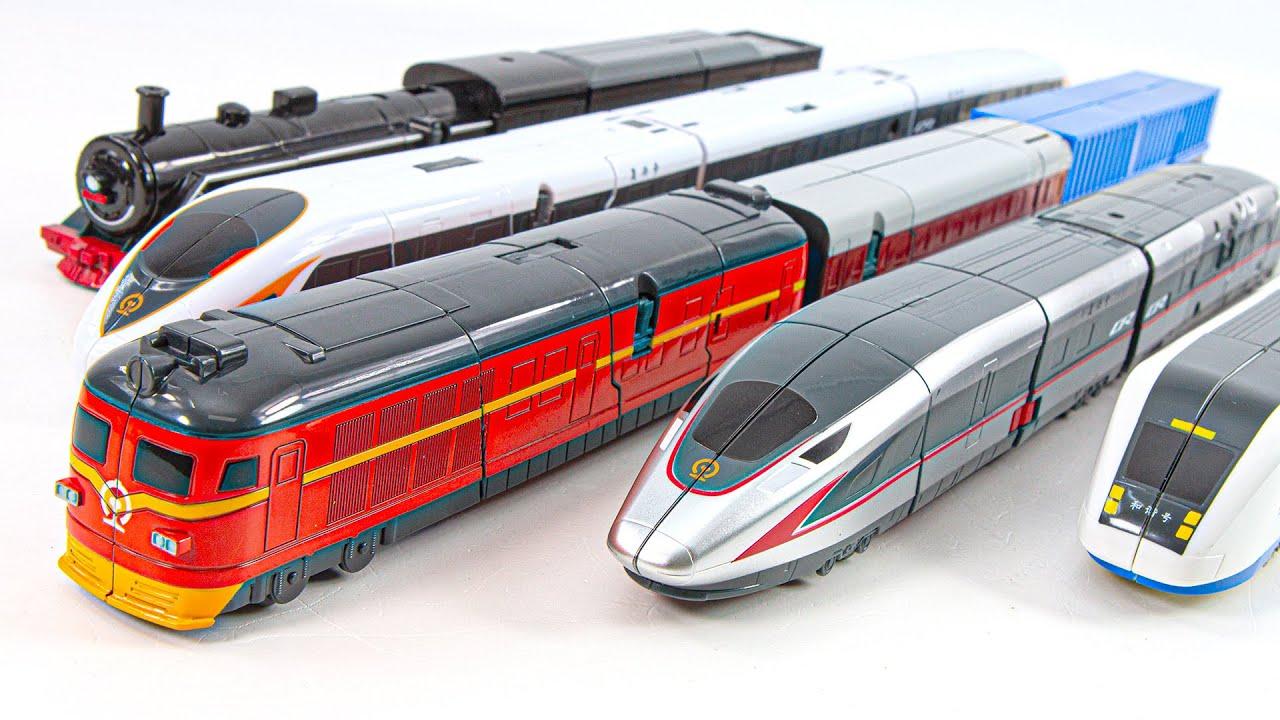 Super Train Robot 5 High Speed Rail Train Transformers Robot Toys