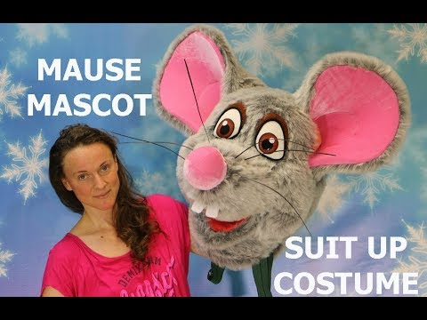 The New Mouse Mascot Costume In A Gray Design   Suit Up Mascot