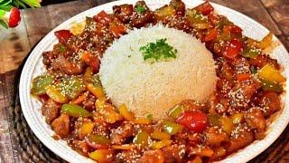 دجاج كانتون الصيني بطريقه بيتيه بتنافس أطيب المطاعم .. Chinese Canton Chicken