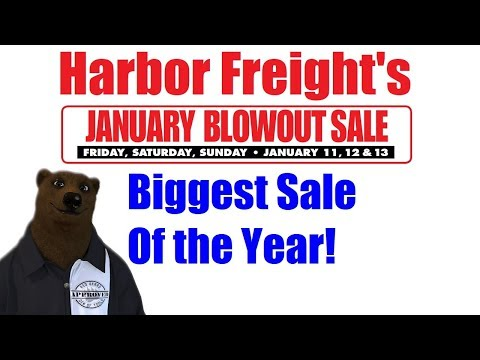 Harbor Freights BIGGEST SALE of the Year!!! (January Blowout Sale 2019)