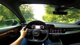 Новый AUDI A3 Sportback 35 TFSI S Line (2020) - POV TEST drive (150 л.с.)