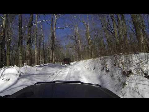 North Georgia Snow Driving 2017