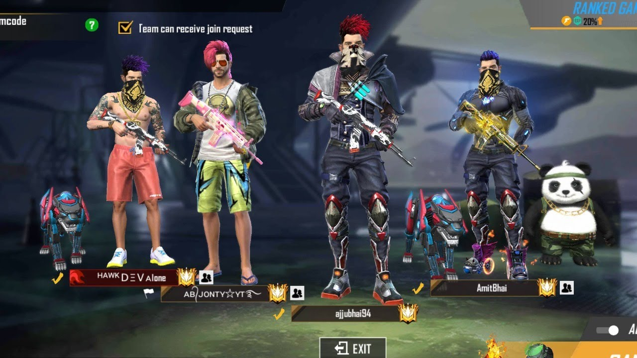 Free Fire Live Mobile Player Rank Duo & Squad Match Live