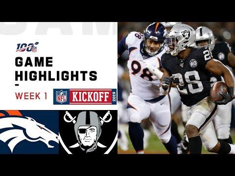 Broncos Vs. Raiders Week 1 Highlights | NFL 2019