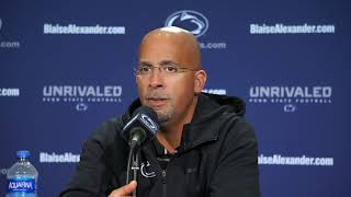 Penn State Football Presser 9/18: head coach James Franklin