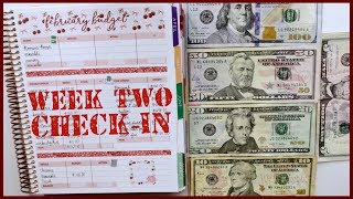 Week 2 Check In Using Cash | Budget with Me - February 2020 Budget