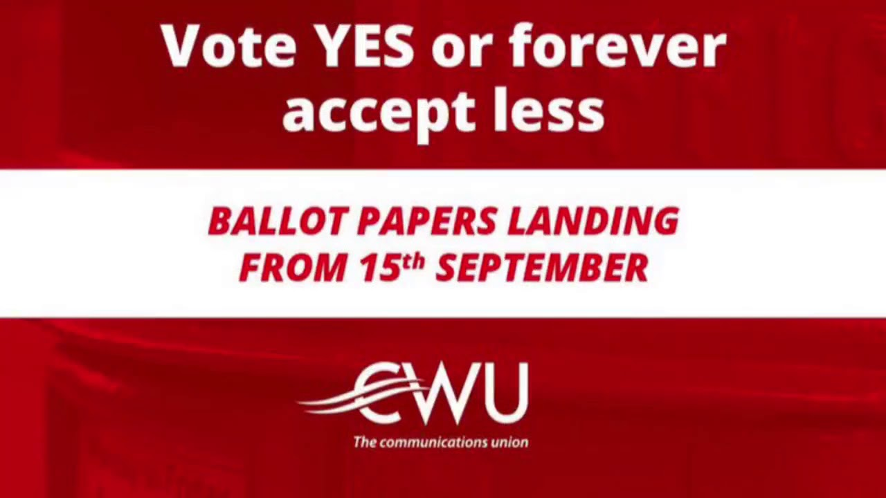 A message from South Midlands Mail Centre's Weekend Shift CWU members...