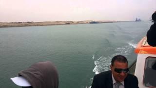 الطريق الى قناة السويس الجديدة بمدخل جزيرة البلاح