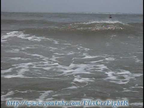 Ocean City NJ,  Almost Drowned By Hard Crashing Waves : ( Original Footage )