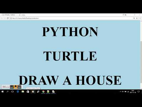 TURTLE - DRAW A HOUSE