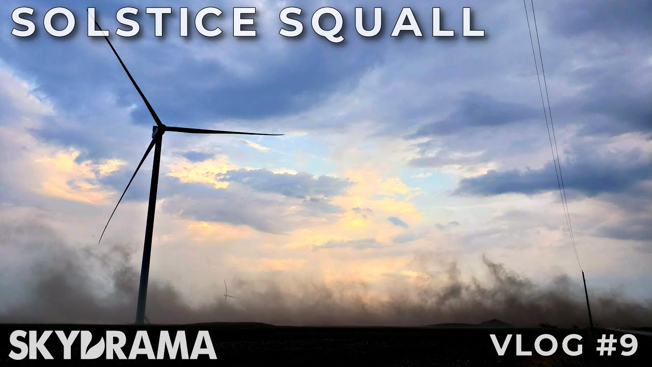 SOLSTICE SQUALL | Skydrama VLOG | June 20th, 2020 | Severe Storms with Blowing Dust in Eastern IL