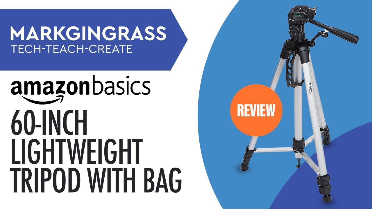 Basics 60-Inch Lightweight Tripod with Bag 2-Pack