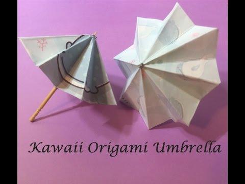 Diy Kawaii Origami Umbrella Youtube
