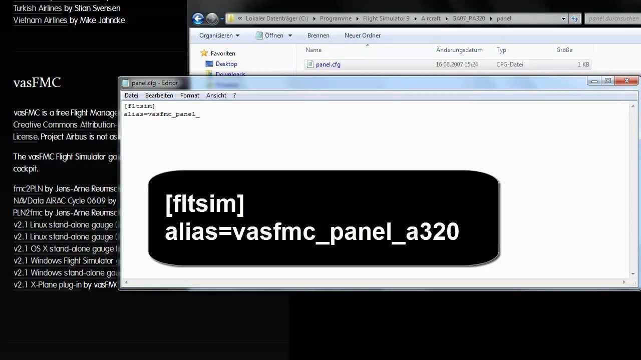 FS Tutorial - vasFMC Teil 1 - installieren und konfigurieren